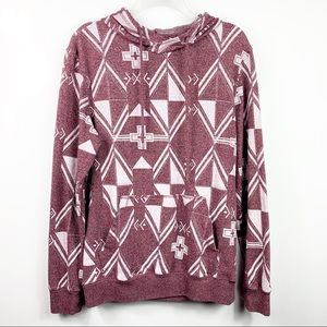 On The Byas | Geometric Burgundy Pullover Hoodie